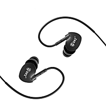 QKZ DM800 IPX5 Waterproof Super Bass Noise Isolating In ear Earphone with Microphone Line Control