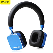 AWEI A900BL Bluetooth V4.1 Wireless Stereo Music Headset Headphones-BLUE