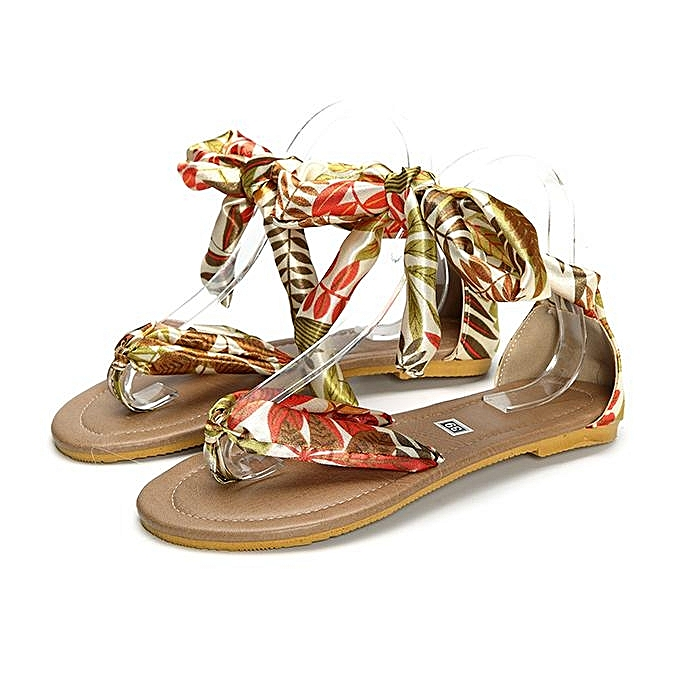 0b46ff97dcc129 Fashion Women Big Size Colorful Bohemia Flip Flops Strappy Flat Casual  Sandals-EU