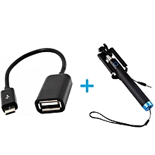 OTG Cable Adapter + Free Selfie Stick - For All phones