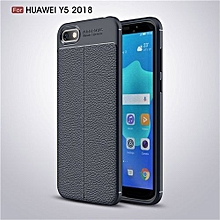 Fashion Slim Phone Case Leather Slim Shockproof Silicone TPU Cover For Huawei Y5 (2018)/Huawei Honor Play 7  5.45 Inch Case