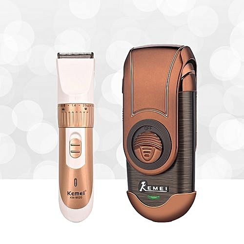 Men's Electric Adjustable Hair Clipper Trimmer Kit+Shaver 3D Floating Razor  Single Blade Reciprocating