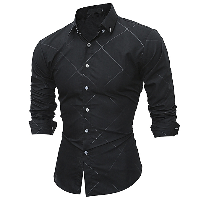 8e9849744b 2018 New Long sleeve men shirts Cotton Plaid shirts male casual Fashion  mens shirts slim fit