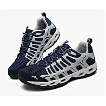 Men's outdoor travel sports sneakers shoes mesh breathable cushioning camping walking shoes