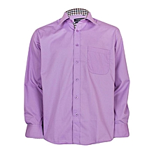 Purple Button Down Shirt With Breast