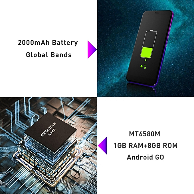 Z10 1GB+8GB 5 0 inch Android GO 8 0 3G Smartphone - Gold