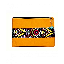 "Ladies Clutch Purse Wallet Mobile Phone Wristlet Wallet Large Capacity iPad Pro 10.5 Sleeve, 10.5 Inch iPad Pro - 9.7"" New iPad 2017 - iPad Pro - iPad Air 2 - Samsung Galaxy Tab Travel Sleeve Bag with Accessory Pockets(Yellow)"