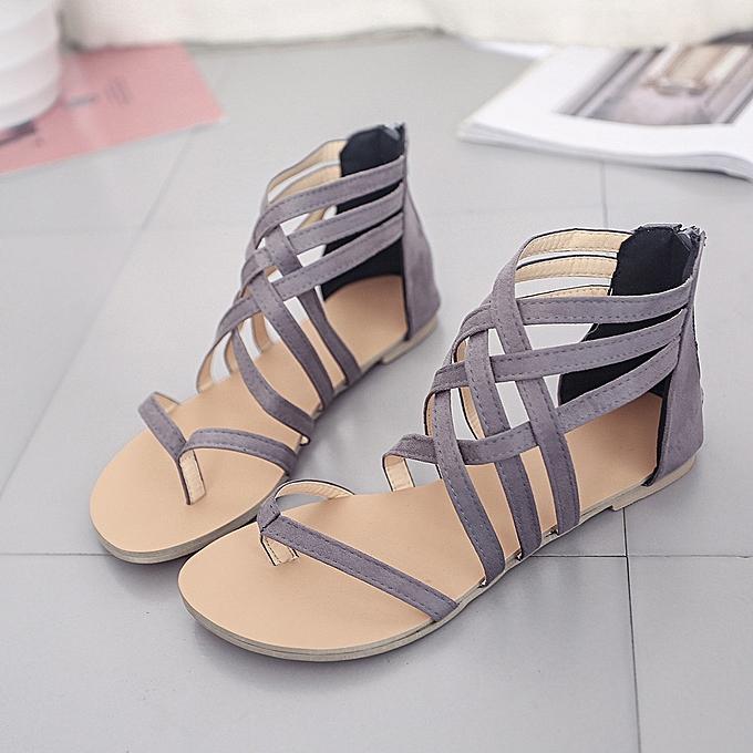 93f16660259 ... Tectores Women Bohemian Flat Sandals Shoes Gladiator Flops Strap Flip  Toe ShoesGift