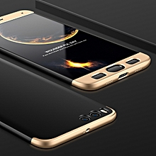 GKK for  Xiaomi Mi Note3 PC 360 Degrees Full Coverage Protective Case Back Cover(Black+Gold)