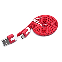 Genuine Nylon Braided USB 3.1 Type-C Data Sync Charger Charging Cable 3M-Red
