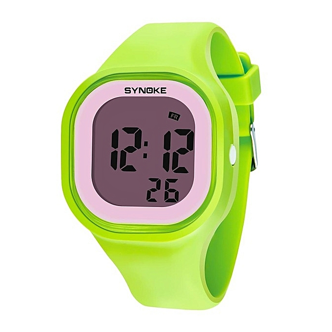 Children's Watches Synoke Branded Hot Sale New Children Watches Cool Kids Watches Black Square Children Digital Kid Watch Boys Watches