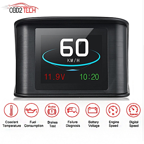 T600 P10 Mini Car OBD Smart Digital Meter Alarm Fault Code Water  Temperature Gauge Voltage Speed Meter Hud GPS OBD Computer UYI