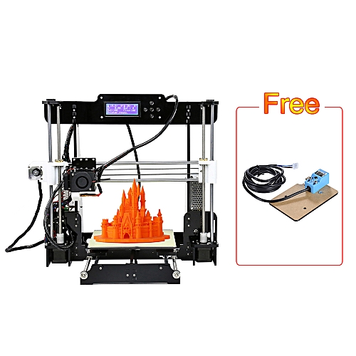Anet A8 Upgraded High Precision Desktop 3D Printer i3 DIY Kits Self  Assembly Auto Self-leveling Acrylic Frame Printing Size 220*220*240mm with  8GB