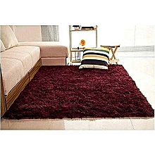 Fluffy Carpet -  Maroon Extremely comfortable carpet-5*8