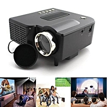 Portable UG28+ Mini LED Projector HDMI Black Home Cinema PC Laptop VGA USB SD AV Black