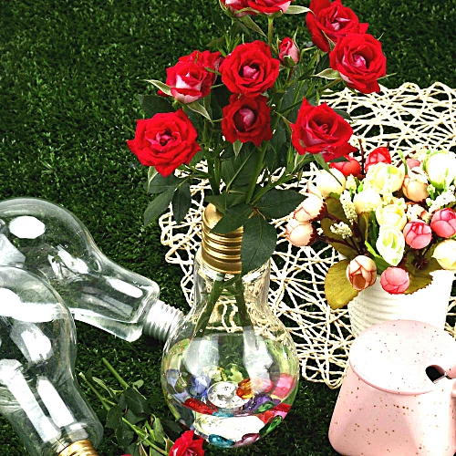 Buy Generic Clear Light Bulb Shape Stand Plant Flower Vase