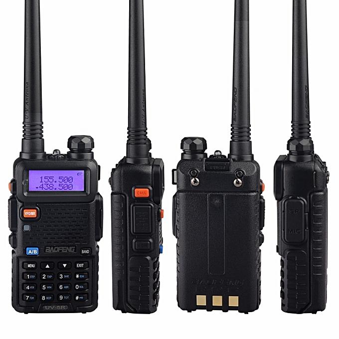 (2 PCS)UV-5R Walkie Talkie Dual Band Two Way Radio Pofung Portable Ham  Radio TransceiverUV5R Handheld Toky Woky ObeyQ