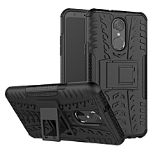For LG Stylo 4 Case, 3 in 1 Tyre Grain Cobwebs Shock-proof Throw-proof Housing With Foldable Stand Holder TPU + PC Back Cover Case for LG Stylo 4 / Q Stylus