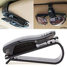2PCS Portable ABS Clips Car Vehicle Sun Visor Sunglasses Eyeglasses Glasses Ticket Holder Clip Auto Fastener Clip