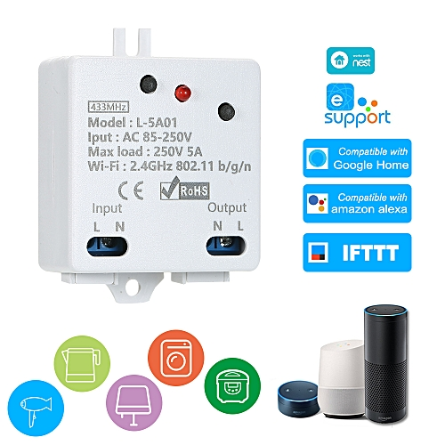 eWelink WI-FI Smart Switch RF 433MHz Compatible with Sonoff 5A/1100W  Wireless Switch with Timing Function Remote Controller for Android/IOS APP