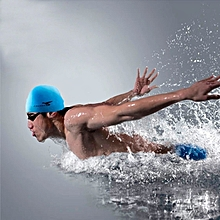 Pure Color Style Elastic Silicone Swimming Cap / Swimming Hat, Sc605(baby Blue)