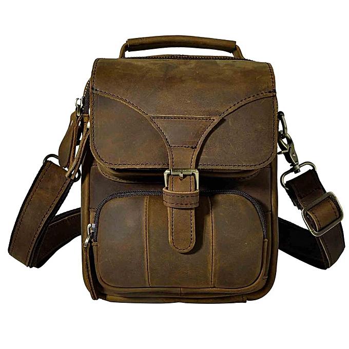 67e5b9cc3ec Fashion Real Leather Male Casual Multifunction Waist Belt Bag Messenger bag  Design Satchel Cross-body Shoulder bag For Men 2074c(brown)