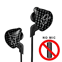 3.5mm Wired In Ear Headphones HiFi Music Earphones 1DD+1BA Dynamic Armature Drivers Sports Headset with Replacement Earphone Cable Earbuds Black