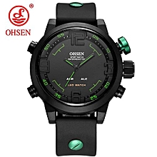 2020 OHSEN Brand Men's Fashion Casual Sport Watches Men 5ATM Waterproof Rubber Quartz Watch Man military Clock Relogio Masculino