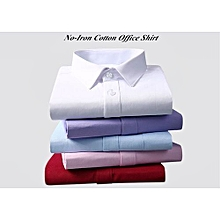 5 Pack Official Shirts - (White Blue Purple Red Pink) - Long Sleeve 100% Cotton Slim Fit