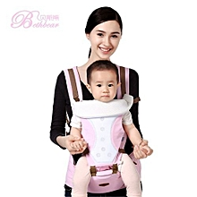 Unisex Breathable Waist Stool Backpack - Pink