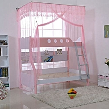 Mosquito Net For Double Decker Beds Free Size - Pink