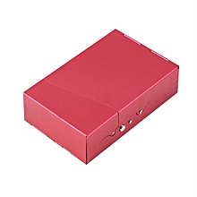 Aluminum 20 Pieces Cigar Cigarette Tobacco Holder Storage Case Pocket Box-Red