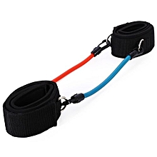 Adjustable Leg Strength Resistance Kinetic Tube Bands Training Workout Fitness-BLUE AND RED