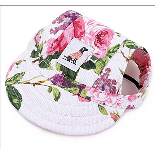 Allwin Pet Dog Summer Hat Pet Baseball Cap Dogs Sport Hat Visor Cap with  Ear Holes Flower   Best Price  e587a0bf563