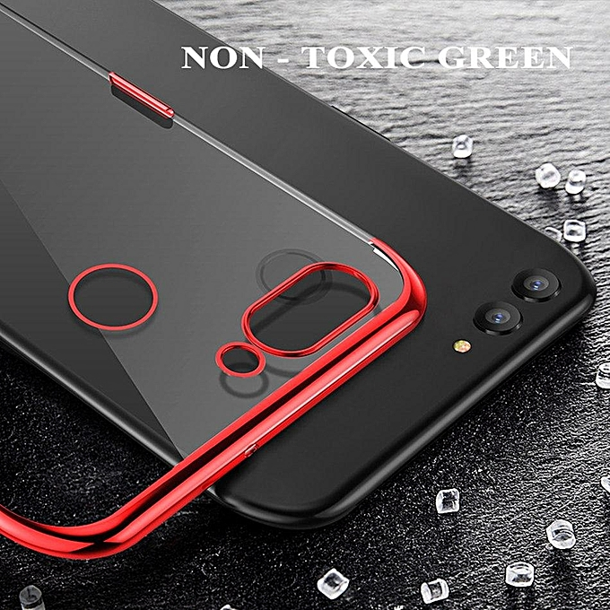 For Huawei Y6 Prime 2018 Soft Case Transparent Plating Electroplate Shining  Clear Casing For Huawei Y6 Pro 2018 Cover Housing