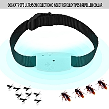 Dog Cat Pet's Ultrasonic Electronic Insect Repellent Pest Repeller Collar