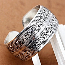 Connecting Branches Carved Tibetan Silver Women Men Cuff Bracelet Bangle