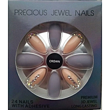 Precious Jewel 24 Nails with Adhesive - Crown