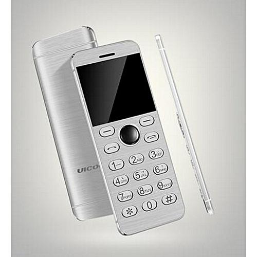 fccc7609c1e75c Fashion Mini Phone Metal Ultra thin Bluetooth 2.0 Dialer MP3 Dual SIM Card  Mini Phone 1.54Inch Phone-white