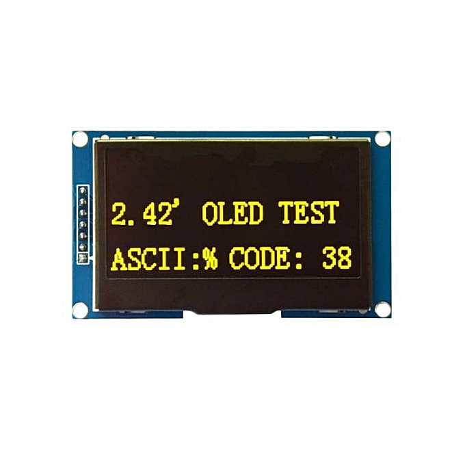 2 42 Inch OLED 12864 LCD Display SPI Serial Port Screen Module For Arduino  Yellow