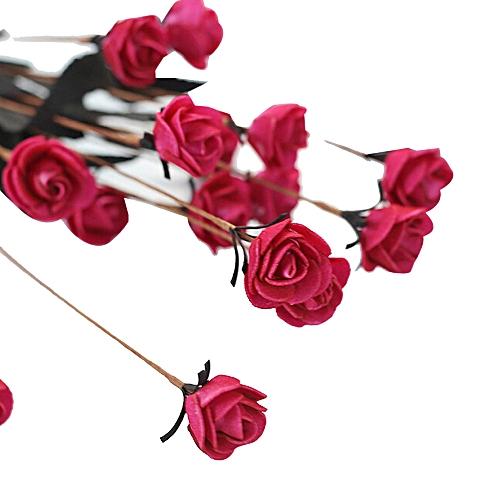 Generic Artificial Pe Fake Flower Rose Floral Wedding Bouquet Bridal