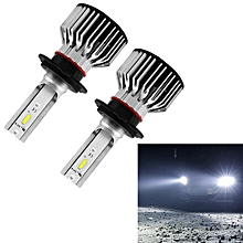 S6 2 PCS H7 30W 3800LM 6000K IP68 LED Headlight Bulbs High Beam Conversion Kit DC 9-36V (White Light)