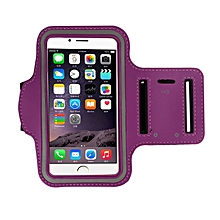 Armband Gym Running Sport Arm Band Cover Case For iphone 6 4.7 Inch PP-Purple.
