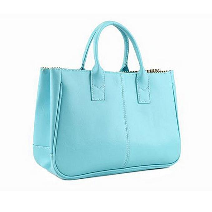 caa50ebdd204 Xingbiaocao Fashion Elegant Korean Shoulder Bag Leather Women Lady Tote  Handbag BU -Blue