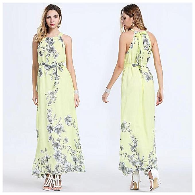8533490be25 Hiaojbk Store Sexy Women Summer Boho Long Maxi Evening Party Dress Beach  Dresses Chiffon Dress-