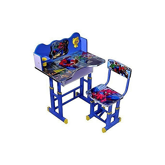 Buy Generic Kids Study Table And Chair Set (SpiderMan) - Computer ...