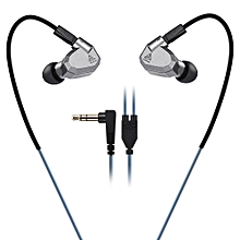 ZS5 HiFi In-ear Removable Music Earphones - Gray
