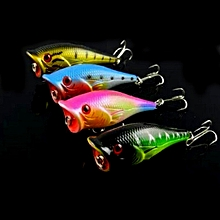 Plastic Artificial Fishing Lures Popper Bionic Fishing Bait with Hooks, Length: 6.5 cm, Random Color Delivery
