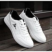 Men's Korean Sport Sneaker Shoes-White
