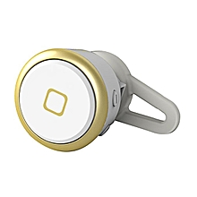 New Mini Wireless Bluetooth Earphone Handsfree Headset for Smartphone -Gold